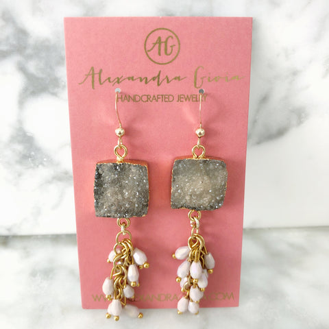 Nadine Druzy Earrings