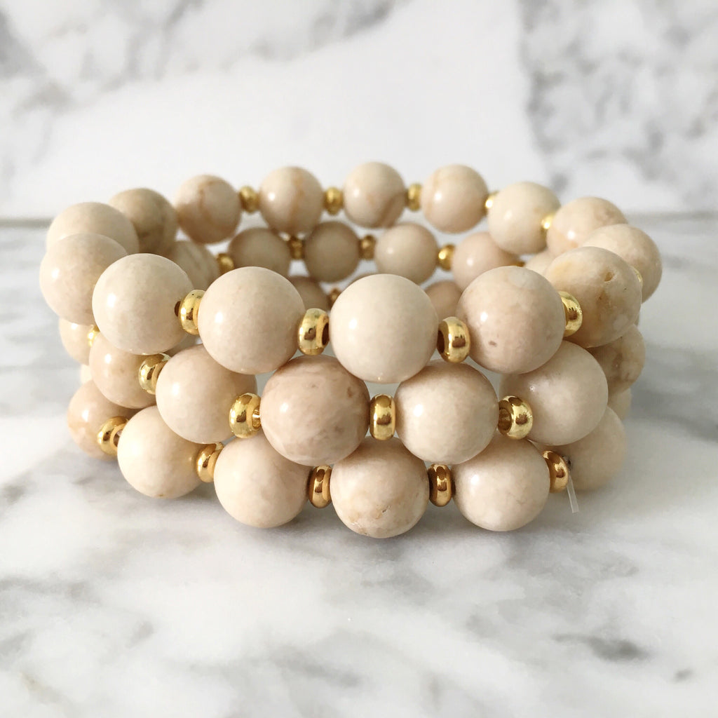 Stackable Bracelet | Cream
