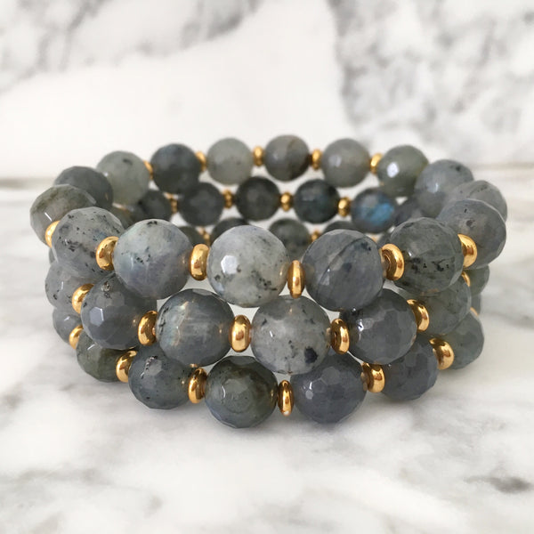 Stackable Bracelet | Labradorite