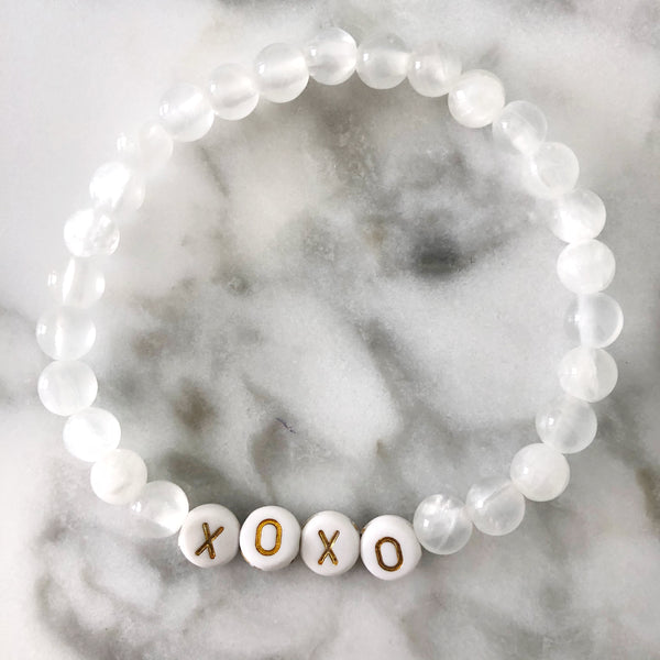 "NEW! AG Word Bracelet ""XOXO"""