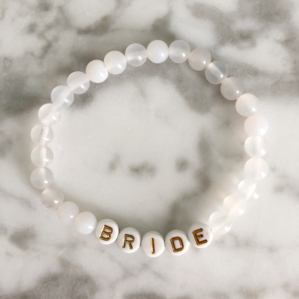 "AG Word Bracelet ""BRIDE"""