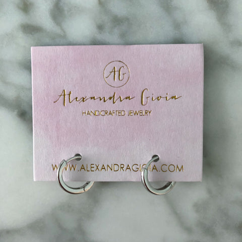 Silver Lining Huggie Earrings