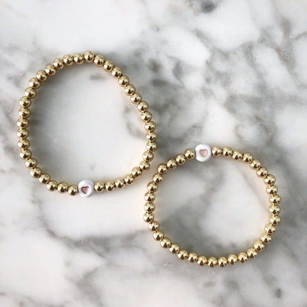 Mommy + Me Heart Bracelet Bundle