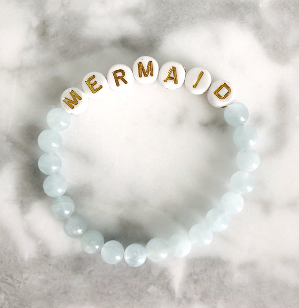 "{Kid's Size} AG Word Bracelet ""MERMAID"""