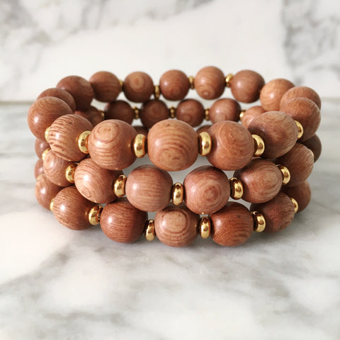 Stackable Bracelet | Rosewood