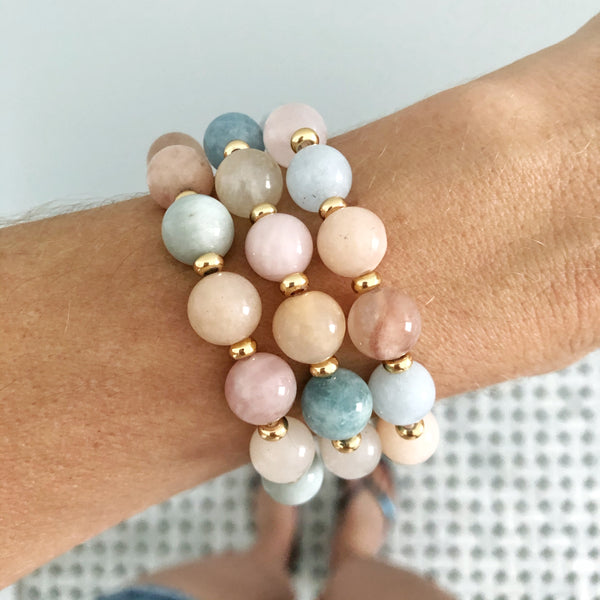 Stackable Bracelet | Morganite