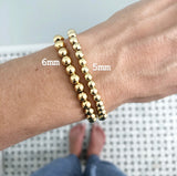 NEW! 5MM Gold Ball Beaded Stackable Bracelet