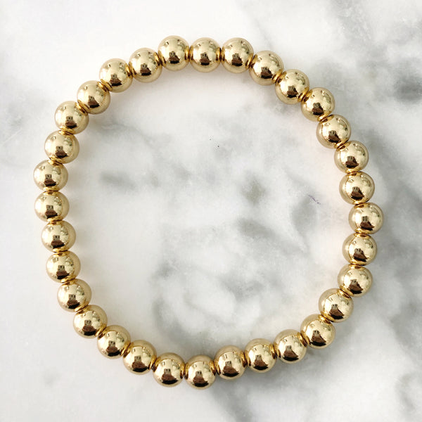 PRE ORDER! NEW! Kids Gold Beaded Stackable Bracelet