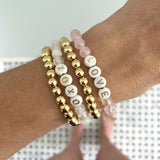 NEW! 6MM Gold Ball Beaded Stackable Bracelet