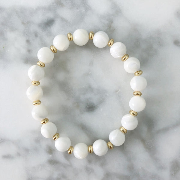 Stackable Bracelet | Mother of Pearl