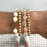 NEW! Gold Druzy Heart Stretch Bracelet