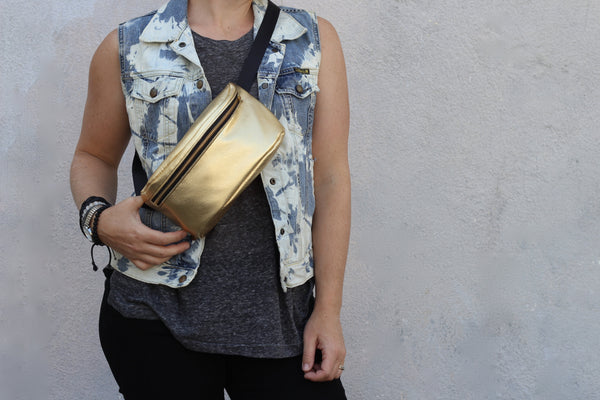 Gold Fanny Pack