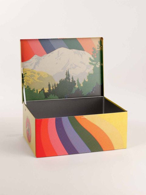 Art Supplies Cigar Box