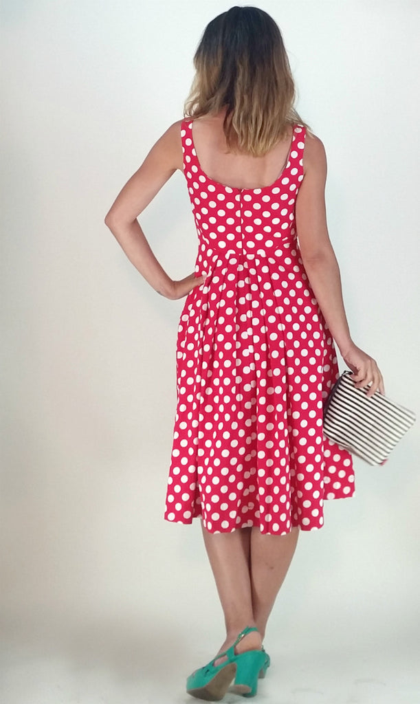 Isobel in Red White Polka