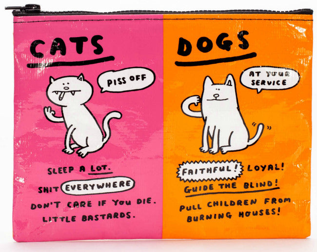 Cats and Dogs Zipper Pouch
