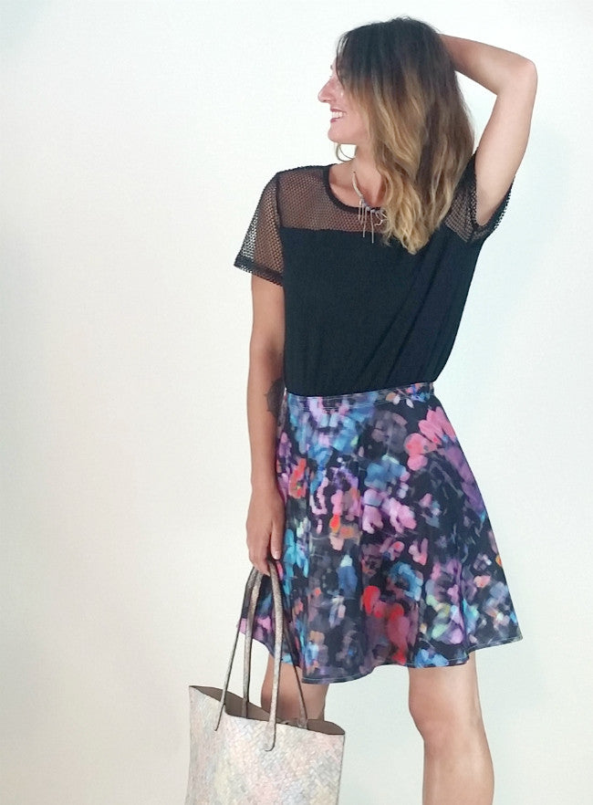 Classic SnapSkirt [Floral Impression]