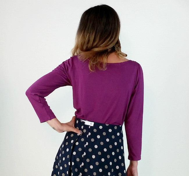 Draped Front Top in Violet