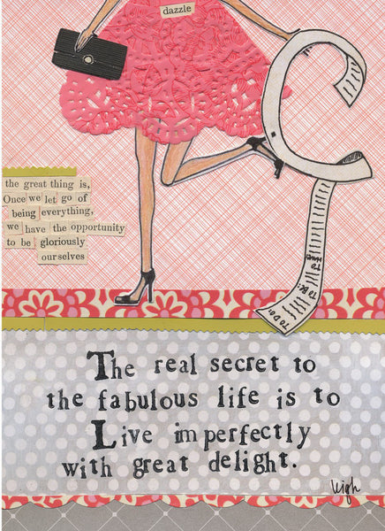 Curly Girl Design Greeting Card - Live Imperfectly - INPCreative