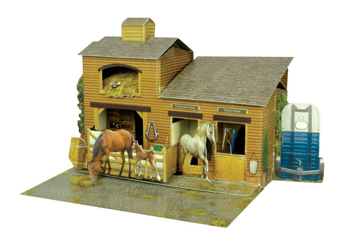 Santoro Pop Up Places 3D Greeting Card - Stables - INPCreative - 1