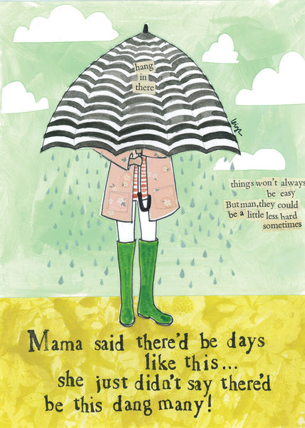 Curly Girl Design Greeting Card - Mama Said - INPCreative