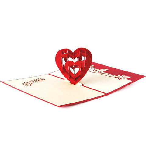 3D Pop Up Greeting Card - 3D Love Heart