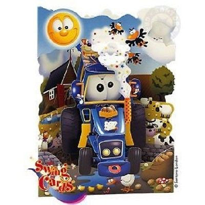 Swing Card 3D - Tractor - INPCreative