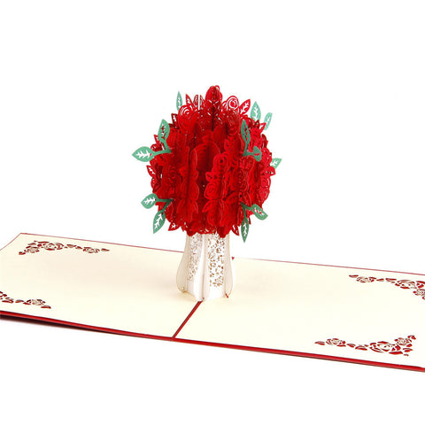 3D Pop Up Card - Roses - INPCreative - 1