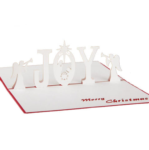 3D Pop Up Christmas Card - Christmas Angels - INPCreative - 1