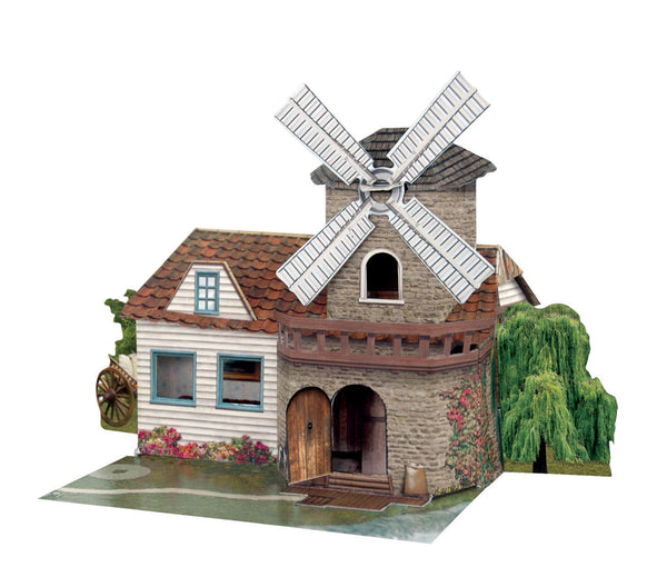 Santoro Pop Up Places 3D Greeting Card - Windmill - INPCreative - 1