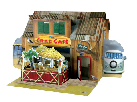 Santoro Pop Up Places 3D Greeting Card - Crab Café - INPCreative - 1