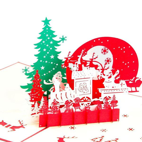 3D Pop Up Christmas Card - Christmas Eve - INPCreative - 1