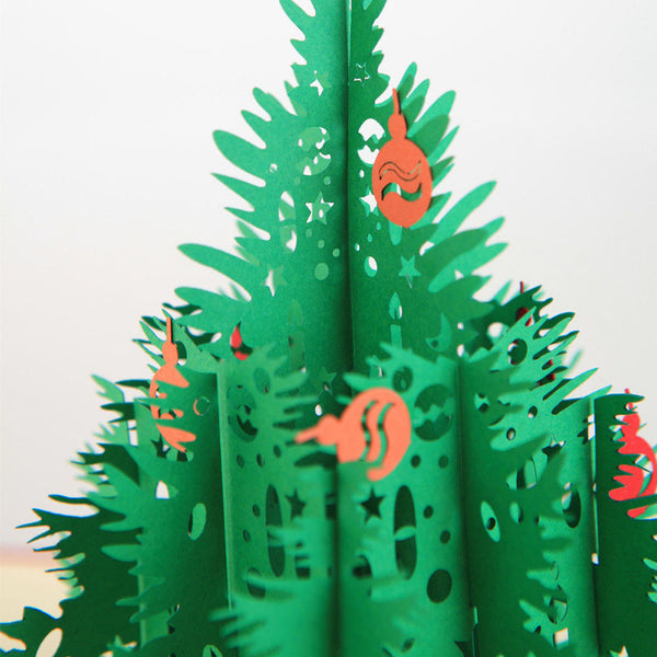 3D Pop Up Christmas Card - Christmas Tree - INPCreative - 3