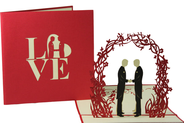 3D Pop Up Greeting Card - 2 Grooms Wedding