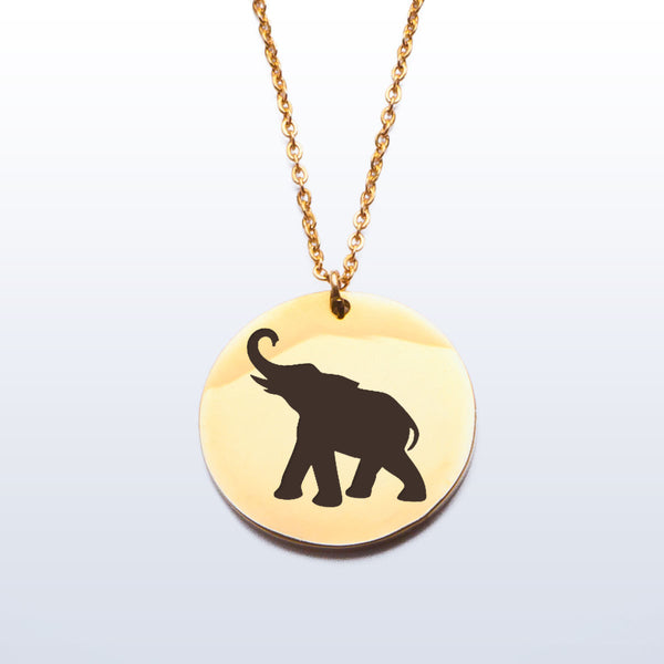 Stainless Pendant Necklace - Elephant