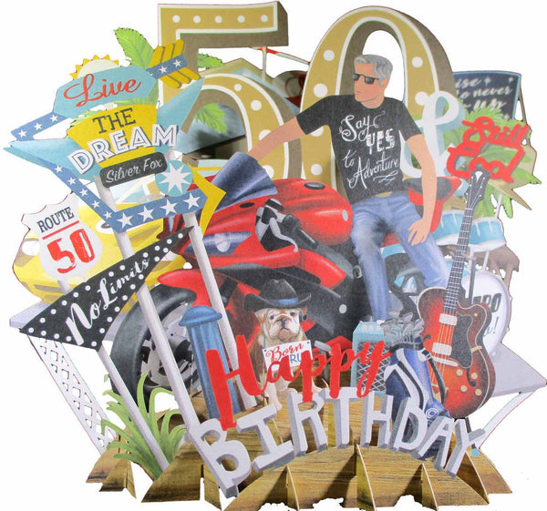 3D Pop Up Birthday Card - Fifty Today - INPCreative - 1