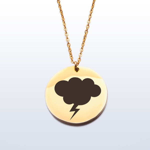 Stainless Pendant Necklace - Storm Cloud