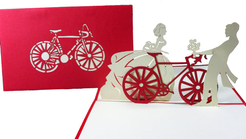 3D Pop Up Greeting Card - Victorian Couple
