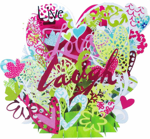 3D Pop Up Card - Live Love & Laugh - INPCreative - 1