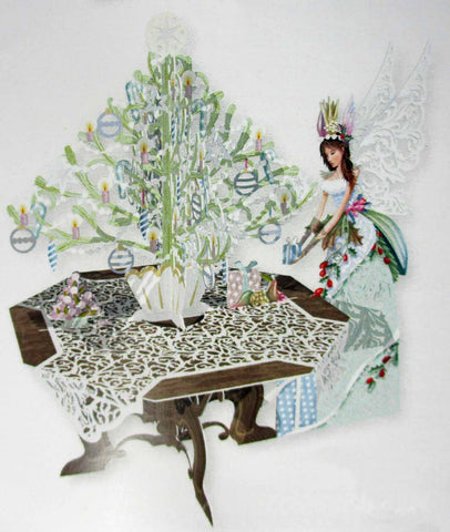 3D Pop Up Card - Fairy Tree Table - INPCreative - 1