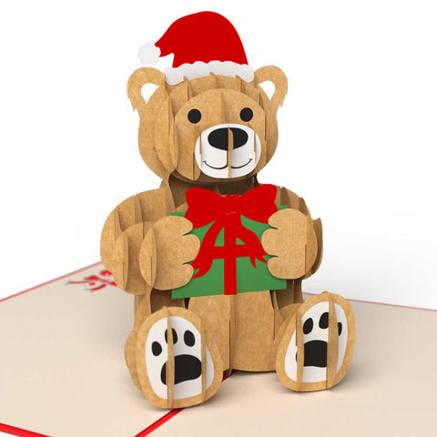 LovePop Cards 3D Pop Up Greeting - Christmas Bear - INPCreative - 1