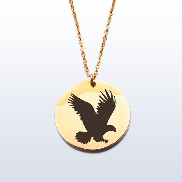 Stainless Pendant Necklace - Eagle