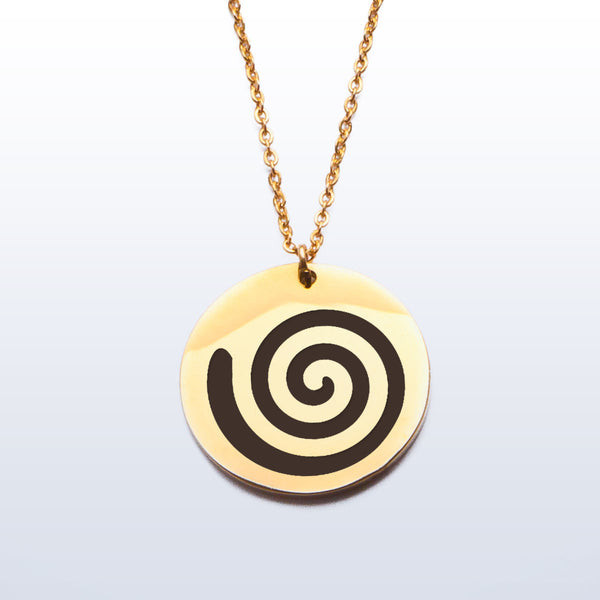 Stainless Pendant Necklace - Spiral