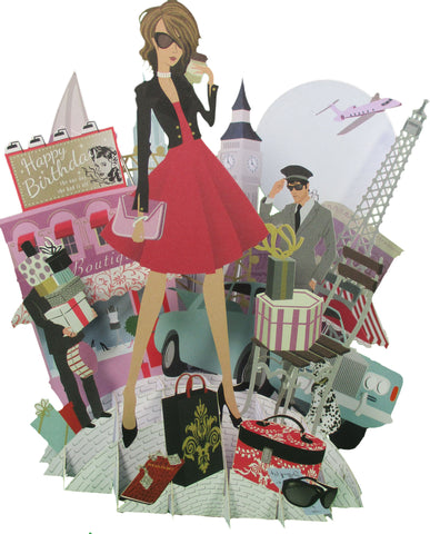 3D Pop Up Birthday Card - It's A Woman's World