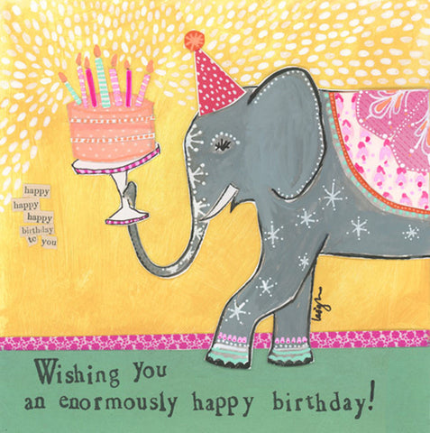 Curly Girl Design Birthday Card - Enormously Happy Birthday - INPCreative