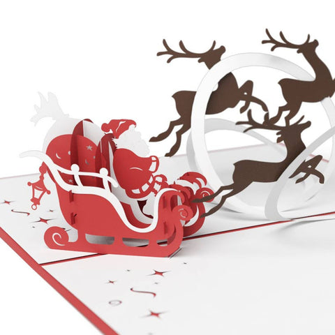 LovePop Cards 3D Pop Up Greeting - Santa's Sleigh - INPCreative - 1