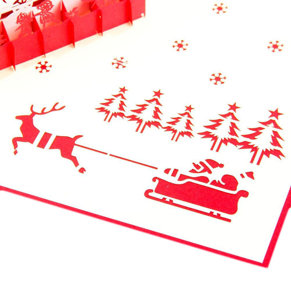3D Pop Up Christmas Card - Christmas Eve - INPCreative - 4