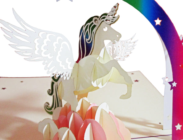 3D Pop Up Greeting Card - Unicorn
