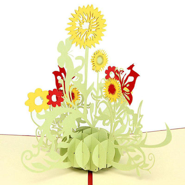 3D Pop Up Greeting Card - Sunflower - INPCreative - 1