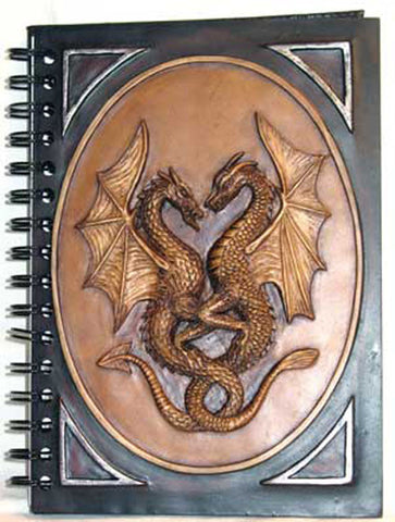 "Double Dragon Resin Journal 6"" x 8"" Refillable Lined Pages - INPCreative - 1"