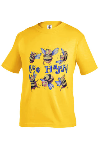 Bee Happy - Toddlers T-Shirt - INPCreative